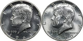 1964 Proof & 1970 D Kennedy Silver Half Dollars, BU, Brilliant Uncirculated