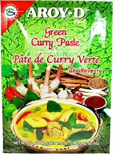 Aroy-D Green Curry Paste, 50-Gram Sachet