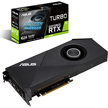 ASUS GeForce RTX 2060 6G Turbo Edition GDDR6 HDMI DP 1.4 Graphics Card (TURBO RTX2060-6G)
