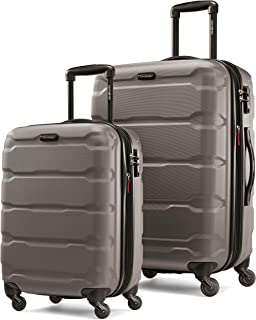 delsey 2 piece hardside luggage set silver