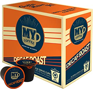 My Coffee Single Serve Coffee Pods, Decaf Dark Roast, 24 Count