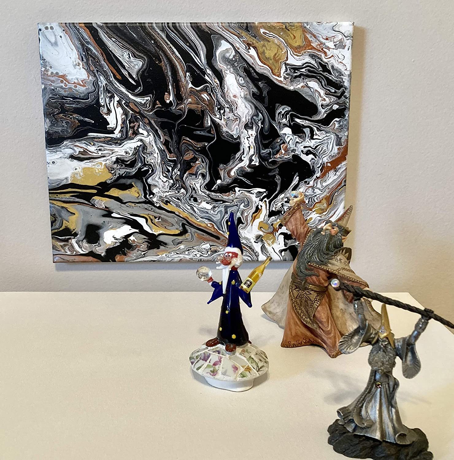 16 x 20 Regular store Inch Original Handmade Pour - Canvas Quality inspection On Painting Acrylic
