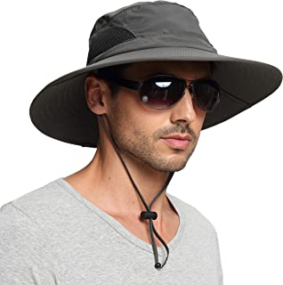 Sun Hat for Men/Women, Sun Protection Wide Brim Bucket Hat Waterproof Breathable Packable Boonie Hat for Fishing