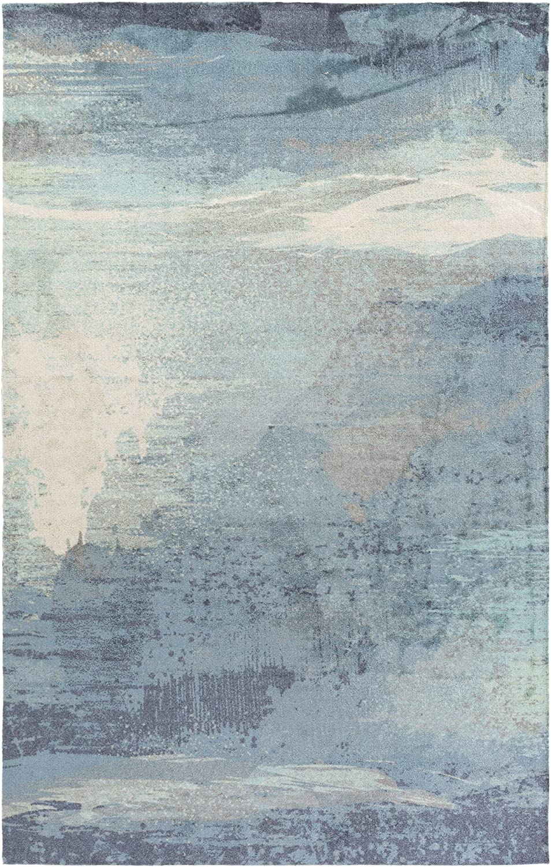 New color Sheldon Navy Max 55% OFF Blue and Medium Gray Modern Rug x 7'6