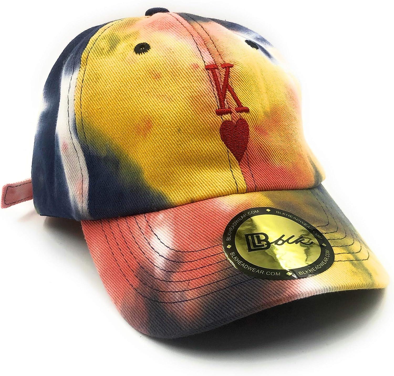 B L K Headwear - King of Hearts Dad Hat (Tie Dye)