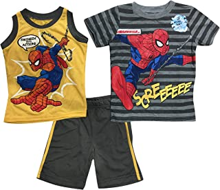 768f343c Spiderman Marvel Boys Toddler 3 Piece Swingin ! Into Action SCREEEEE Tank T Shirt  Short Set