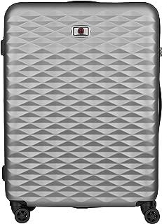Wenger 604344 Lumen Expandable Hardside Upright Luggage, Silver, 75 Centimeters