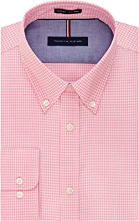 Men's Dress Shirt Slim Fit Non Iron Gingham