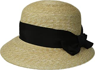 Women's Darby Fine Milan Straw Packable Sun Hat, Rated UPF 50+ for Max Sun Protection