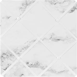 Sweet Jojo Designs Modern Grey, Black and White Marble Print Fabric Memory/Memo Photo Bulletin Board