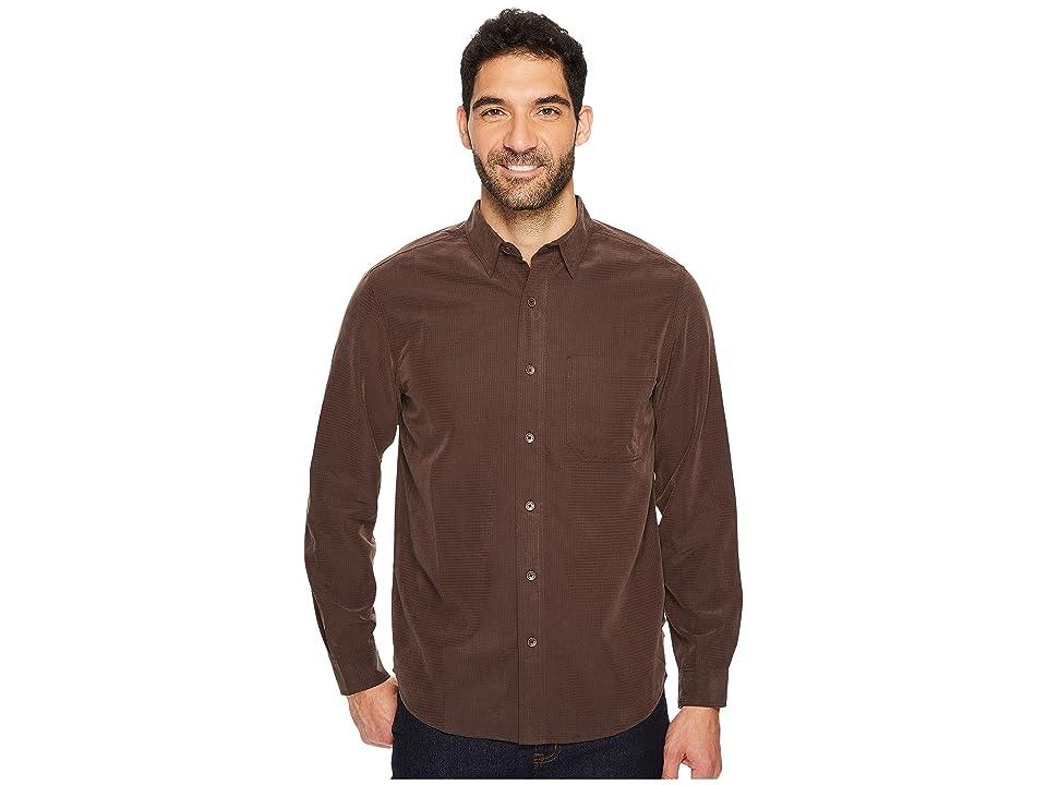 Royal Robbins Desert Pucker L/S Shirt (Dark Chestnut) Men