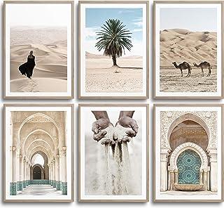 Monoko® Lot de 6posters de salon/chambre à coucher, ensemble d'images de qualité supérieure, élégants, tableaux muraux sa...