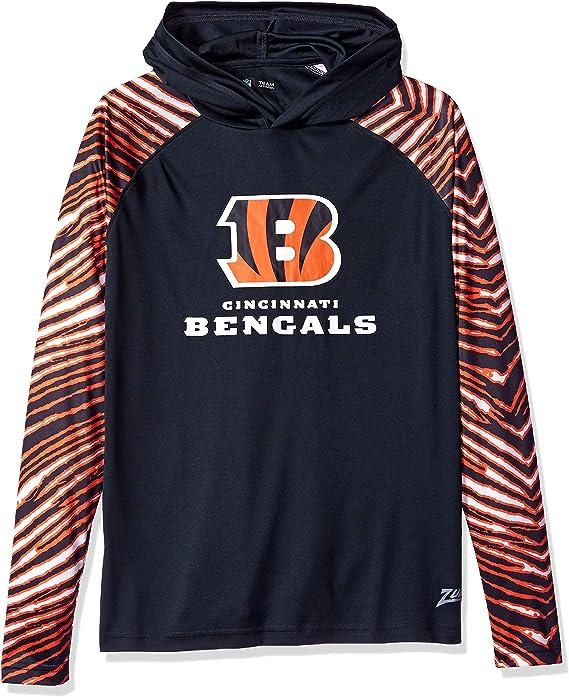 Zubaz Officially Licensed NFL Mens Zebra Logo Hoodie Team Color