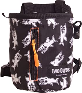 two Ogres Basique v2 Climbing Chalk Bag with Belt and Zippered Pocket for Climbing, Gymnastics, Weight Lifting