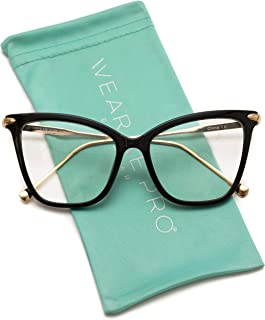 New Elegant Oversized Clear Cat Eye Non-Prescription Glasses