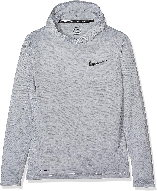 Nike Big Kids' (Boys') Training Hoodie (Small, Cool Grey/Black)