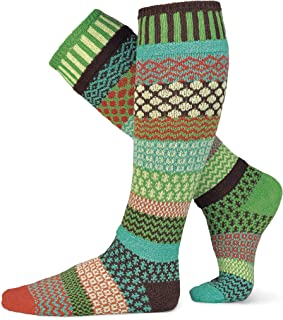 Solmate Socks - Mismatched Knee High Socks, USA Made with Recycled Cotton Yarns
