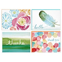 Hallmark Blank Cards (Watercolor Designs, 40 Cards with Envelopes)