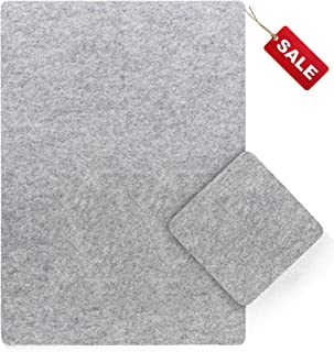 Eco-Friendly 100/% Organic 14 x 14 Wool Ironing Mat Nature/'s Stitch Wool Pressing Pad is The Only All-Natural Family-Safe Option for Cleaner Home Quilting /& More!