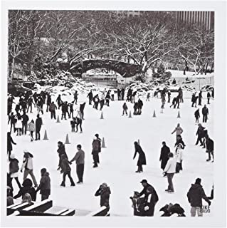 3dRose Snow blizzard in Central Park Manhattan New York City Ice Skate Ring - Greeting Cards, 6 x 6 inches, set of 6 (gc_10291_1)