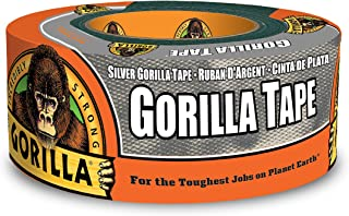 """Gorilla Silver Duct Tape, 1.88"""" x 12 yd, Silver, (Pack of 1)"""