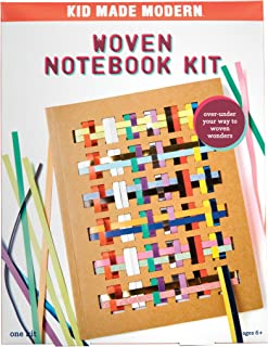 Kid Made Modern Woven Notebook Craft Kit - Kid Journal Arts and Crafts