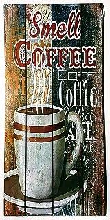 MI RINCON Cuadro de Madera Vintage Motivo Smell Coffee para Decorar la Pared del hogar, Tienda, Garaje, Bar, Pub