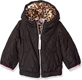 London Fog Baby Girls Reversible Quilted Midweight Jacket