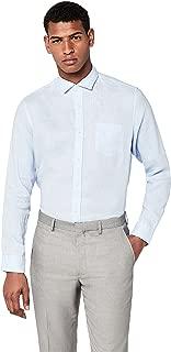 Marca Amazon - find. Regular Fit Linen - Camisa Casual Hombre: Amazon.es: Ropa y accesorios