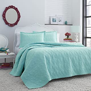 Betsey Johnson Betseys Bows Quilt Set King Turquoise-Aqua
