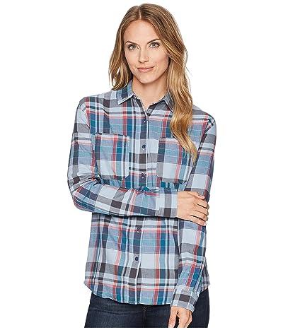 The North Face Long Sleeve Castleton Shirt (Dusty Blue Sierra Plaid) Women