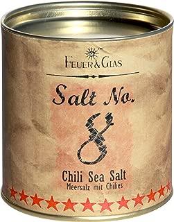 Feuer & Glas, Salt No. 8 - Chili Sea Salt, Sal de Mar Italiano con Chiles, 190 g