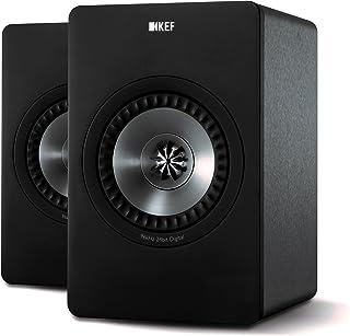 KEF X300A Wireless Bookshelf Speakers Gun Metal Black