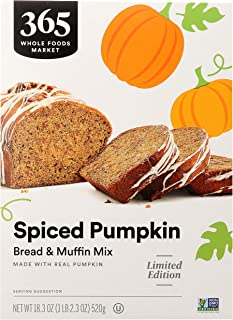 365 by Whole Foods Market, Limited Edition Bread & Muffin Mix, Spiced Pumpkin (Made With Real Pumpkin), 18.3 Ounce