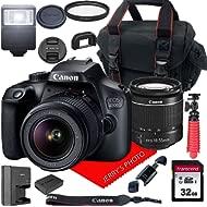 Canon EOS 4000D / Rebel T100 DSLR Camera w/Canon EF-S 18-55mm F/3.5-5.6 III Zoom Lens + Case +...