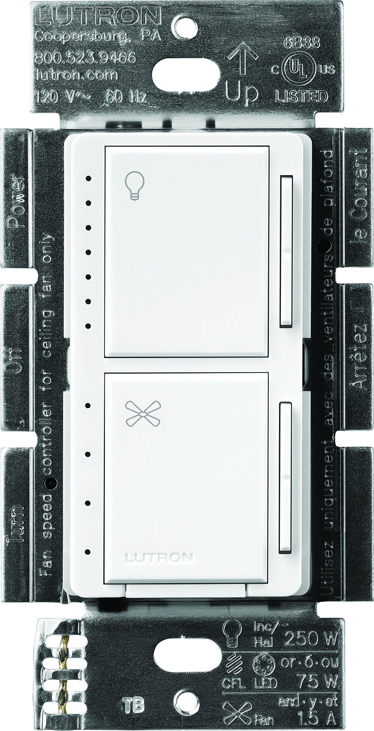 Lutron Maestro Incandescent Single Pole MACL LFQ WH