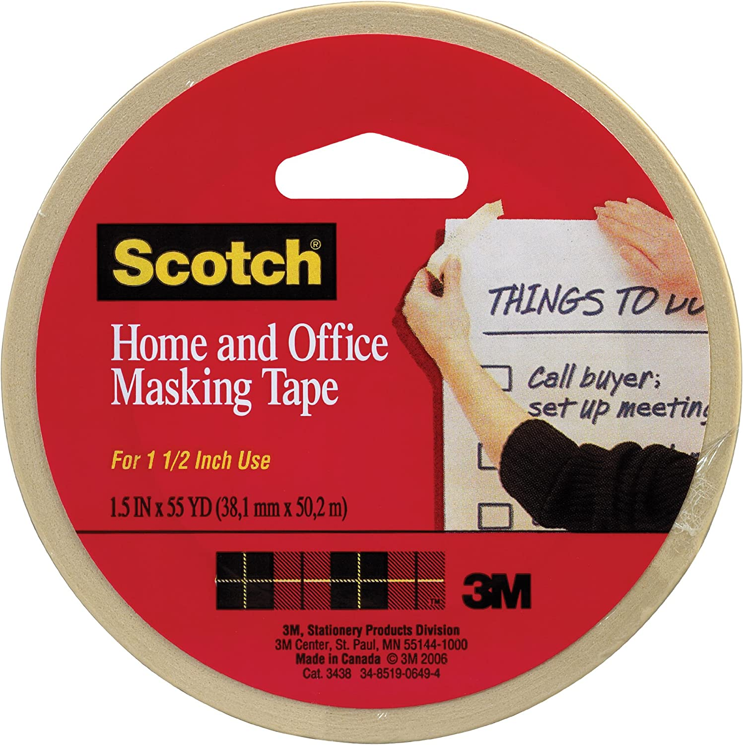 0.70 in x 54.6 Yards 1 3436 1 roll Scotch Tan Home and Office Masking Tape