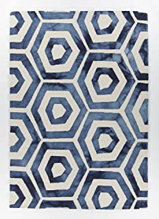 Chandra Rugs Elvo Rectangular Hand Tufted Contemporary Area Rug, 5' x 7'6