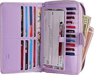 Big Fat RFID Blocking Leather Organizer Checkbook Wallets For Women - Clutch
