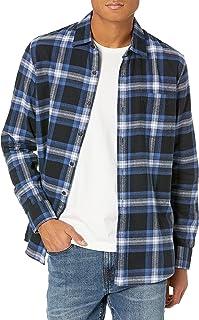 Men's Standard-Fit Long-Sleeve Brushed Flannel Shirt