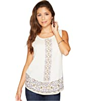 Lucky Brand - Embroidered Tank Top