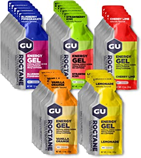 GU Energy Roctane Ultra Endurance Energy Gel, Assorted Flavors, 24-Count