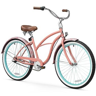 sixthreezero Women's Beach Cruiser Bicycle, 26  Wheels/17 Frame