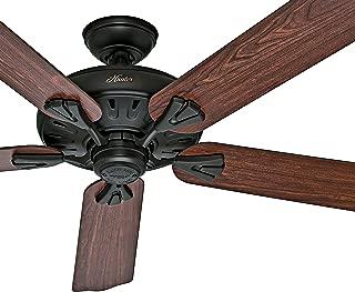 Hunter Fan 60in Traditional Ceiling Fan in New Bronze, 5 Blade (Renewed)