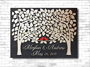 LOVE NILE 3D Wedding Guest Book Alternative Wood Two Families Become One Unique Wedding Tree Guest Book Wood Rustic Sign in Guestbook Alternative