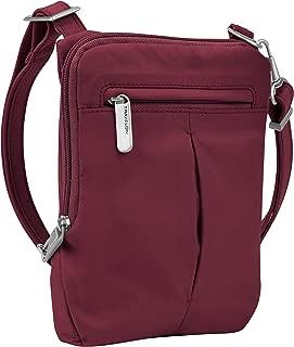 Travelon Anti-Theft Classic Light Mini Crossbody Bag, Berry