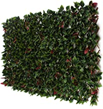 3rd Street Inn Red Tipped Photinia Leaf Trellis 4-Pack - Bamboo Greenery Panel - Boxwood and Ivy Privacy Fence Substitute ...