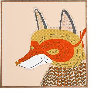 """Deny Designs Mummysam, Mr Fox, Framed Wall Art, Medium, 20"""" x 20"""""""