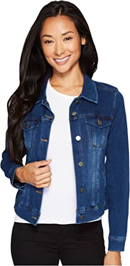 Petite Classic Denim Jacket in Powerflex Knit Denim