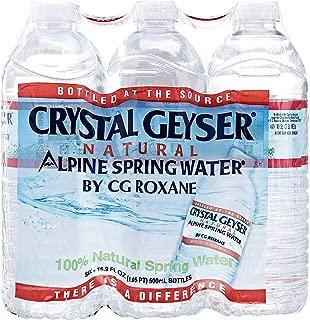 Crystal Geyser, Natural Alpine Spring Water, 6 pack, 16.9 oz bottles